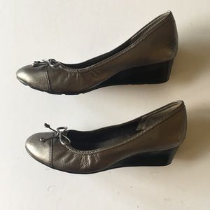Cole Haan Air Tali leather wedge pumps, size 8.5